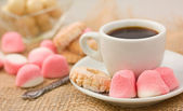 Cookies and coffee. — Stock Photo
