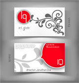 Business card iq — Vettoriale Stock