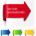 définir le vecteur-flèche sous la forme d'autocollants papier — Vecteur