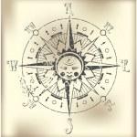 Compass Rose Illustration — Stock Vector