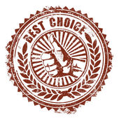 Best Choice Stamp — Stock Vector