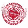 Rubber stamp Happy Valentine's day — Stock Vector