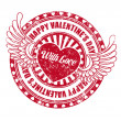 Royalty-Free Stock Vector Image: Rubber stamp Happy Valentine\'s day