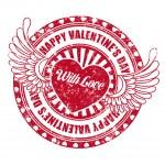 Rubber stamp Happy Valentine's day — Stock Vector