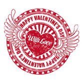 Rubber stamp Happy Valentine's day — Vetor de Stock