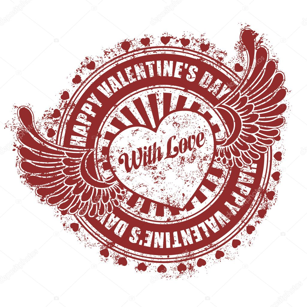 Rubber stamp Happy Valentine's day — Stock Vector #8526585