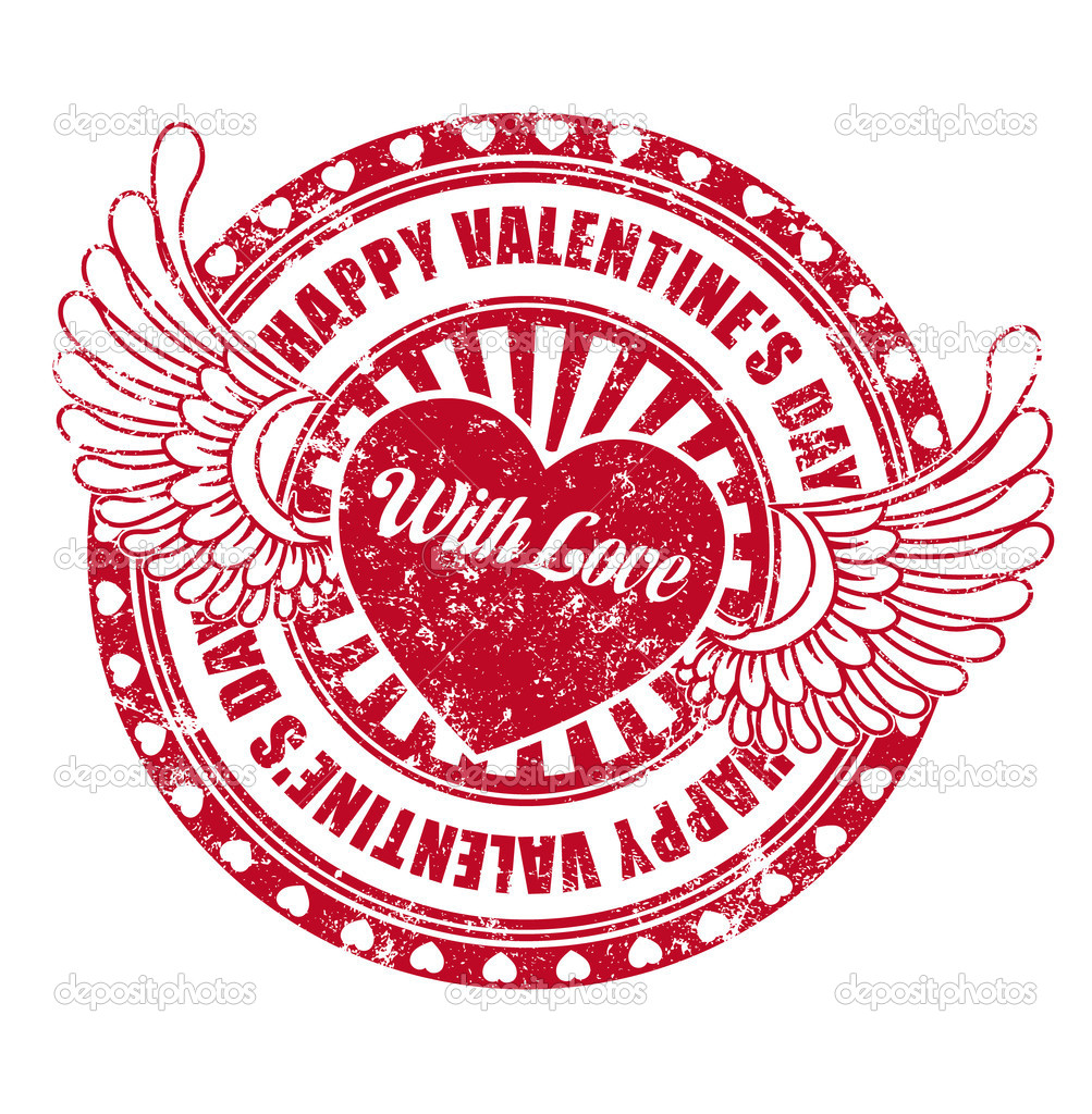 Rubber stamp Happy Valentine's day — Stock Vector #8526597