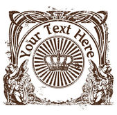 Stamp in style a vintage with a place for the text 2 — Stock Vector
