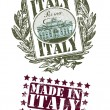 Royalty-Free Stock Vector Image: Rubber stamp of Italy with the fountain image
