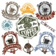 Set of rubber stamps with the name of coffee drinks and cups. Vector — Stock Vector #8901561