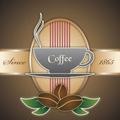 Sfondo vettoriale in stile vintage con una tazza di caffè — Vettoriale Stock