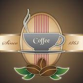 Vektor bakgrund i vintage stil med en kopp kaffe — Stockvektor