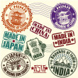 Royalty-Free Stock Vector Image: Set of rubber stamps. Asian countries. vector
