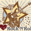 Stock Vector: I love rock 'n' roll. poster