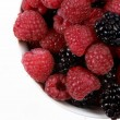 Fresh Raspberries and Blackberries — Stok fotoğraf