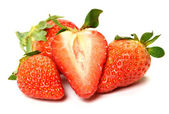 Composition of beautiful strawberries — Stock Photo