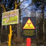 Sign of radiating danger — Stock Photo