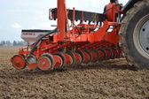 Seeder in the field. — Stock Photo