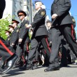 Victory Day. Festive demonstration.Cadets march. — Foto de Stock