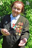 Victory Day.Portrait of the Belarusian guerrilla Valentina Yakovlevna Nikolayenko — Stock Photo