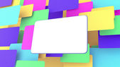 Blank billboard multicolor — Stock Photo
