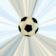 Soccerball over abstract background — Stock Photo #9313562
