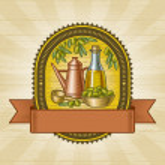 Retro olive harvest label — Stock Vector #10124438