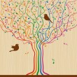 Royalty-Free Stock Vector Image: Musical Tree