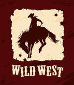 Wild west background — Stock Vector