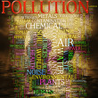 Pollution word cloud — Foto de Stock