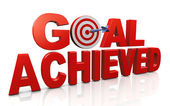 Achieving goals and targets — Stock Photo