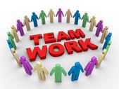 3d Teamarbeit Wort — Stockfoto