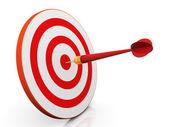 3d-dart op doel — Stockfoto