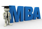Master of business administration — 图库照片