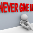3d man - never give up — Stock Photo #10165562