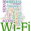 Wi-fi wordcloud - Stock fotografie