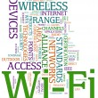Stock Photo: Wi-fi wordcloud