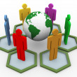 3d global communication — Foto Stock