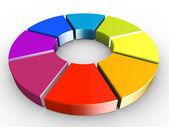 3d barevné kolo — Stock fotografie
