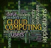 Computação em nuvem — Foto Stock