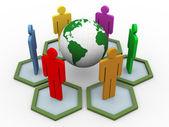 3d wereldwijde communicatie — Stockfoto