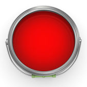 3d red paint bucke — Stock Photo
