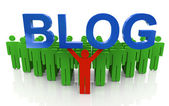 Blogging 3d — Foto de Stock