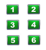 3d push button numbers series — Stock Photo