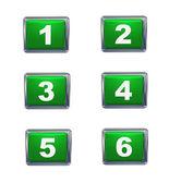 3d 按钮数字系列 — 图库照片