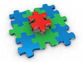 3d-puzzel — Stockfoto