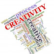Creativity wordcloud — Stock Photo