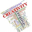 Creativity wordcloud — Foto de Stock
