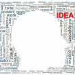 Human head  wordcloud — Photo
