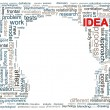 Foto Stock: Human head wordcloud